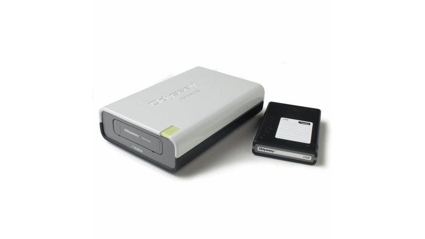 Imation Odyssey: Die Lösung besteht aus Docking Station und wechselbaren Festplatten-Cartridges. (Quelle: Imation)