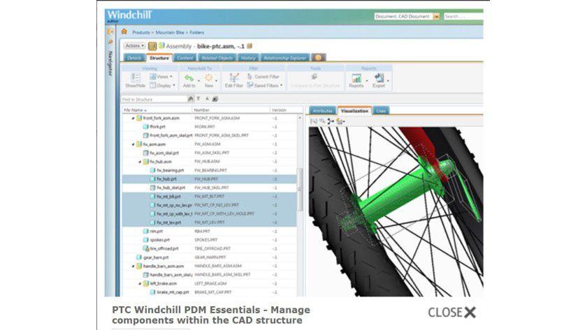 'PTC Windchill PDM Essentials' - eine CAD-Daten-Management-Lösung für Mittelständler