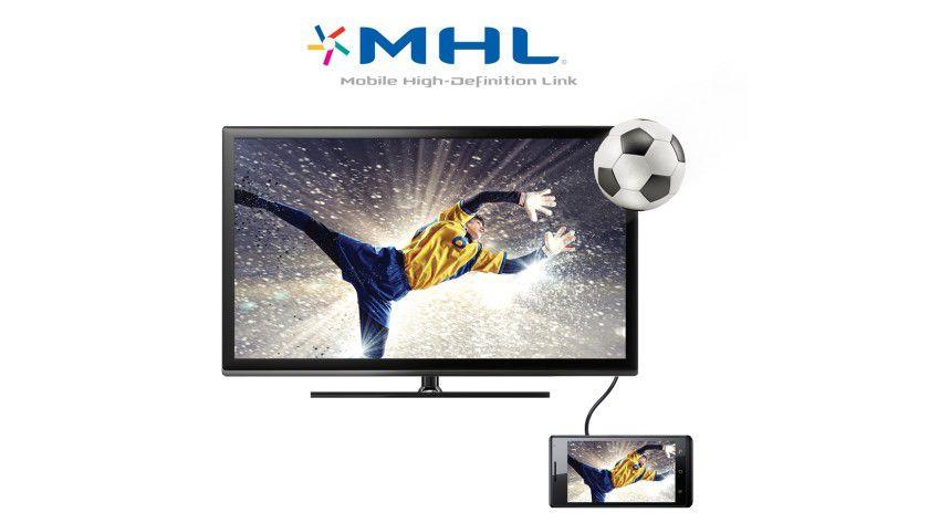 Per MHL lassen sich Audio- und Videodaten auf Bildschirme und Fernsehgeräte übertragen.