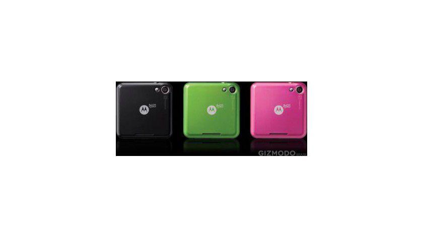 Motorola Flipout: Kommt mit austauschbaren Rückteilen in Schwarz, Pink, Grün und Orange