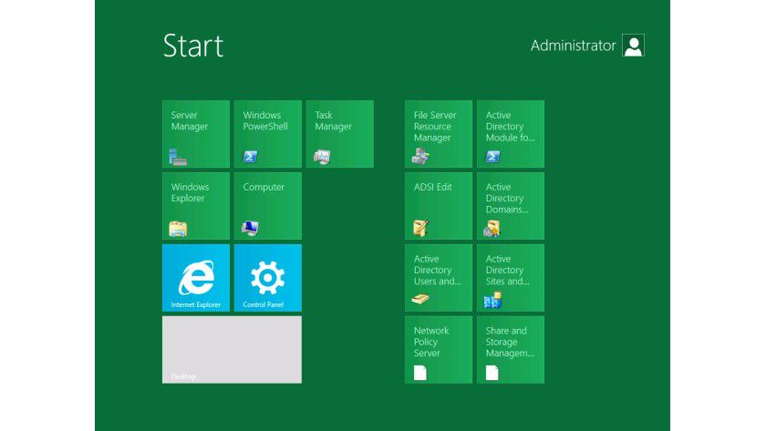 "Das neue Startmenü"" von Windows Server 8 orientiert sich bei der Developer-Preview-Version am Windows 8-Client."