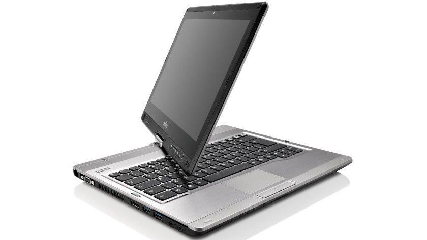 Rotierend: Das Fujitsu Lifebook T902 ist ein typischer Dreh-Convertible, der sich je nach Bedarf als Tablet oder als Laptop nutzen lässt.