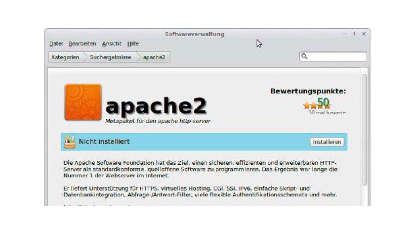 Voraussetzung: Damit Ihr PC Webseiten ausliefern kann, müssen Sie einen HTTP-Server wie Apache installieren. Außerdem sind für die meisten Content-Management-Systeme PHP und My SQL erforderlich.