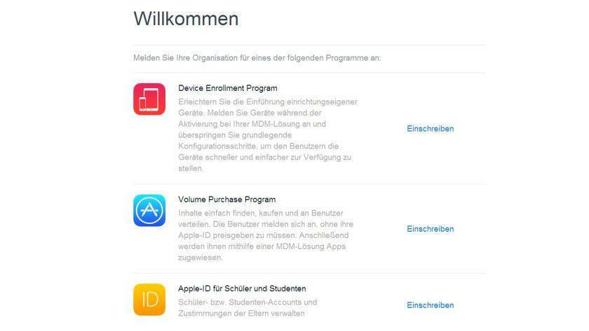 Die Anmeldungsseite für die neuen Bereitstellungsprogramme ist bereits in Deutsch verffügbar.