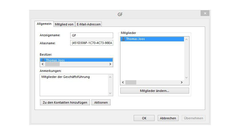 Verteilerlisten In Outlook Verwalten Und Mitglieder