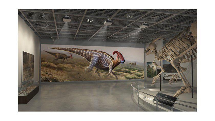 Die Möglichkeit, mit mehreren Geräten vom Typ Epson PowerLight Pro z11000WNL ein riesiges Bild zu erzeugen, eignet sich nicht nur fürs Museum.