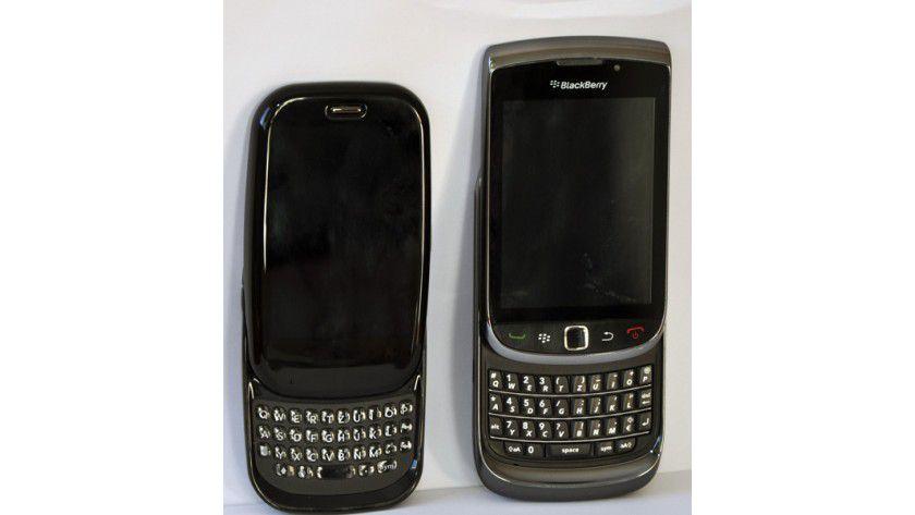 Inspiration?: Der Palm Pre neben dem Blackberry Torch.