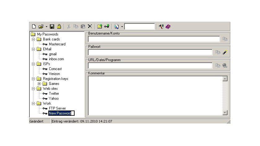Any Password: Der Anwender kann mit dem Tool seine Passworte komfortabel verwalten.