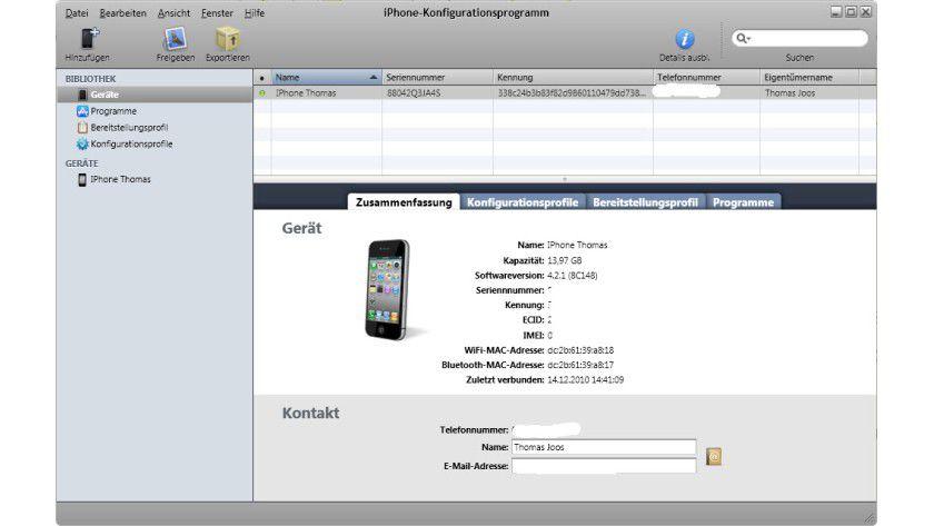 Hilfreich: iPhones lassen sich relativ einfach im Unternehmen zentral einrichten.