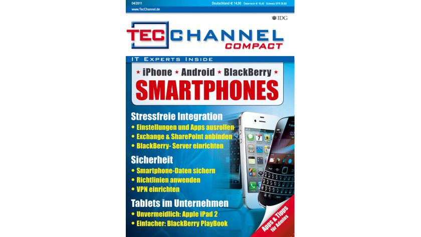 TecChannel Compact 04/2011: 160 Seiten Praxisbeiträge und Grundlagen zum Thema Smartphones und Tablets im Unternehmen.