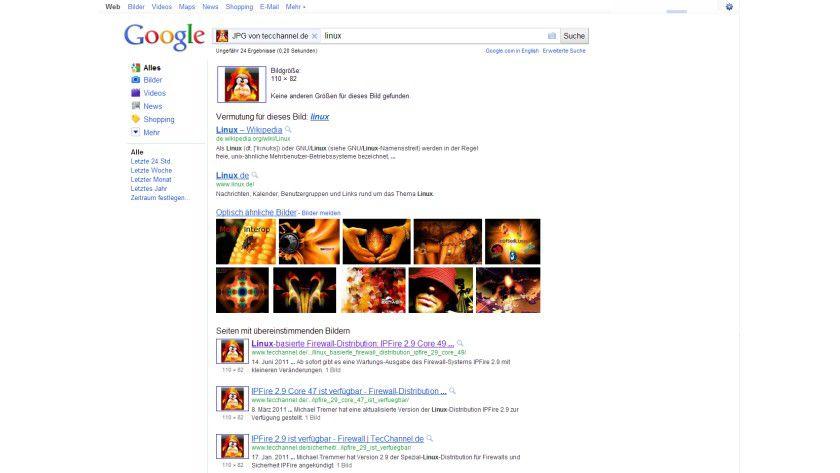 Bildersuche: Google findet nun auch thematisch passende Suchbegriffe zu eingespielten Bildern