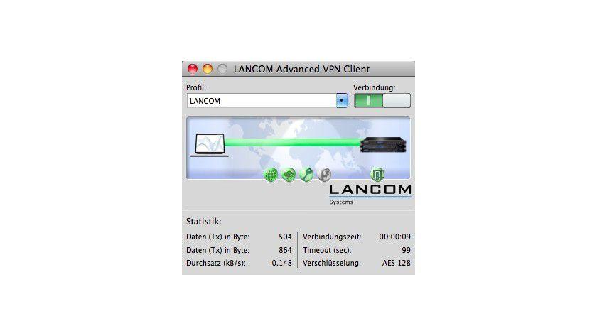 VPN-Client: Der Advanced VPN Client für Mac unterstützt die Betriebssysteme Mac OS X Leopard (10.5, nur Intel), Mac OS X Snow Leopard (10.6) und das neue Mac OS X Lion (10.7).