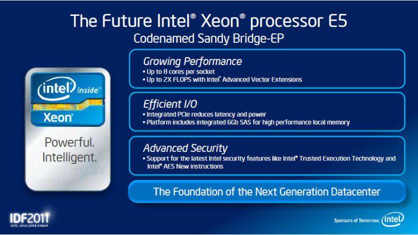 Sandy Bridge-EP: Der Xeon E5 ist der Nachfolger der aktuellen Xeon-5600-Prozessoren.