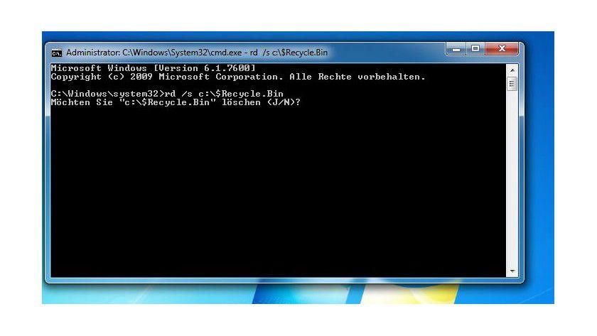 In einem Rutsch: Über diesen Befehl kann man alle virtuellen Papierkörbe auf dem Windows-System leeren.