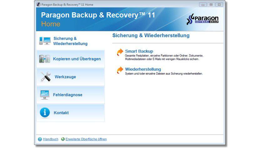 Sicher ist sicher: Mit Paragon Backup & Restore 11 Home kann der Anwender bequem seine sensiblen Daten sichern.