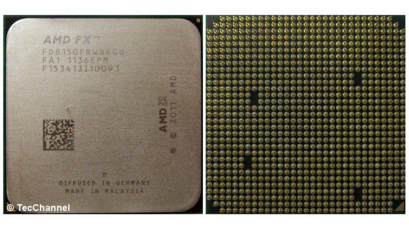 AMD FX-8150: Die 8-Core-CPU mit Bulldozer-Architektur ist für den Socket AM3+ ausgelegt. Die CPU arbeitet mit einer Grundtaktfrequenz von 3,6 GHz. Der FX-8150 kann durch die Turbo CORE-Technologie die Taktfrequenz auf bis zu 4,2 GHz erhöhen.