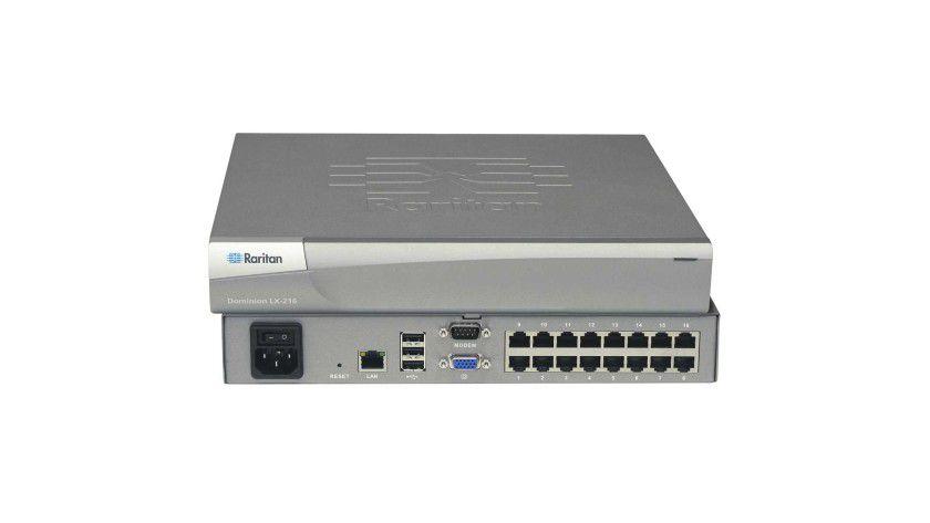 Details: Ermöglicht den Zugriff für bis zu drei Benutzer: das Switch-Topmodell Dominion LX 216.