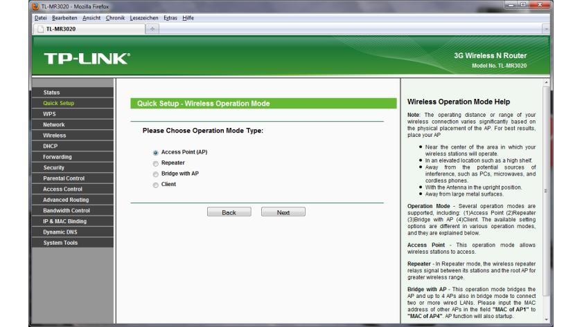 Konfiguration des Routers - Mobiler Hotspot und mehr: Test: WLAN