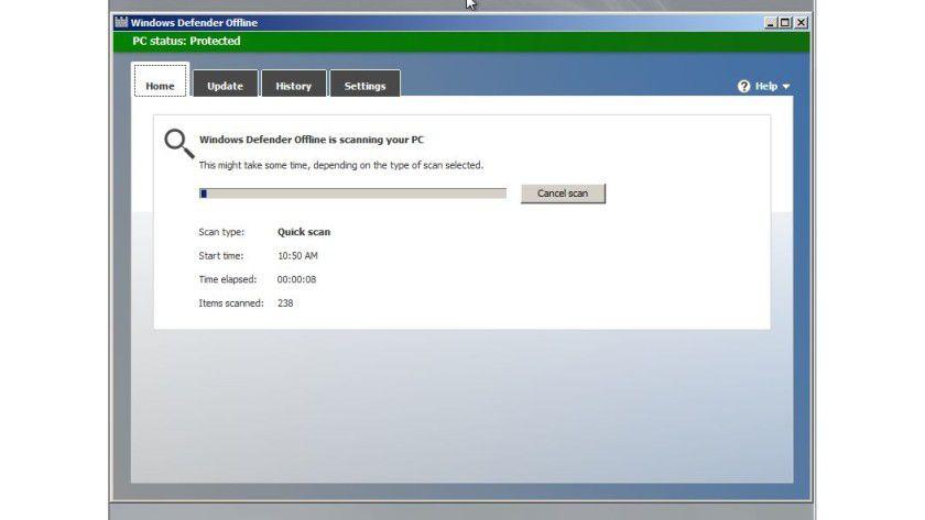 Windows Defender Offline: Das Sicherheits-Tool kann Startmedien erstellen und verseuchte Windows-Installationen säubern.