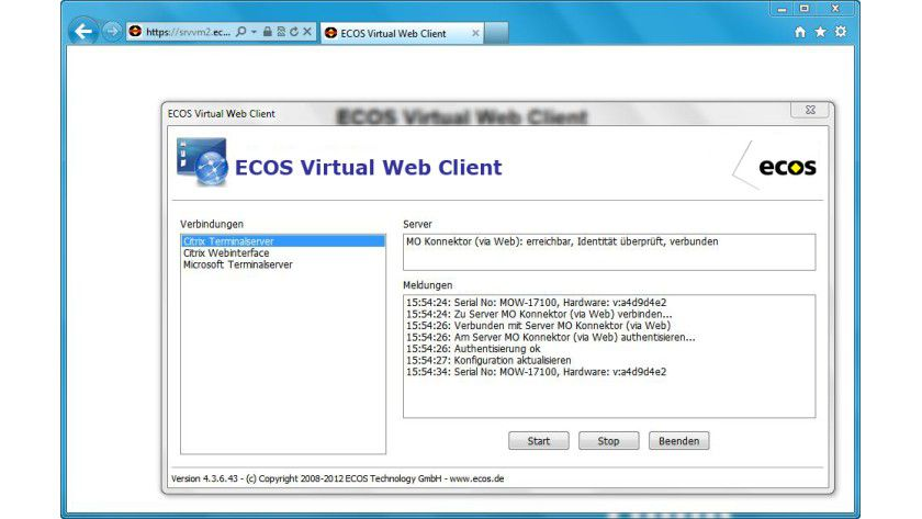 Zugriff: Der Virtual Web Client soll einen sicheren Zugang zu Citrix, Microsoft Terminalserver oder Webanwendungen von einem beliebigen Browser aus ermöglichen.