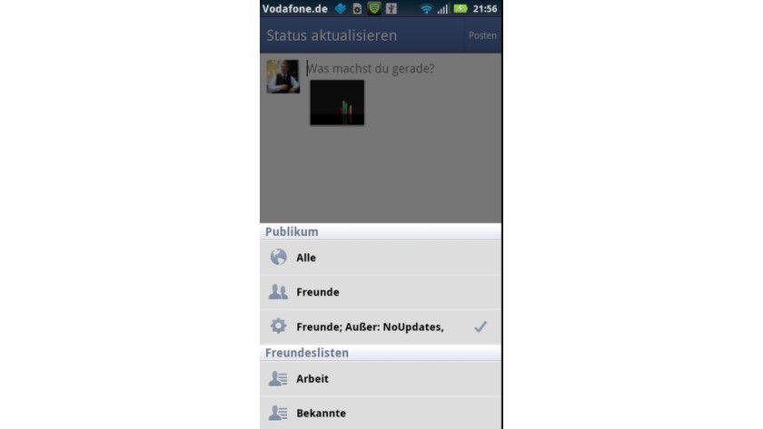 Upload-Hindernis: Benutzerdefinierte Einstellungen bringen den Facebook-Bilder-Upload aus dem Tritt.