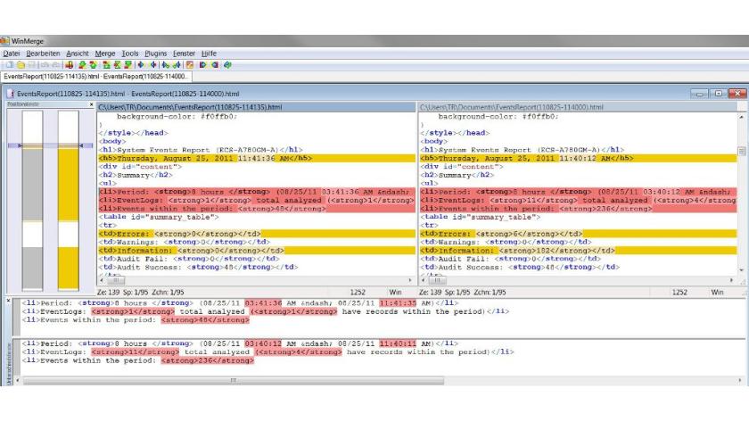 Kostenloses Tool für File-Management: WinMerge - Dateien und