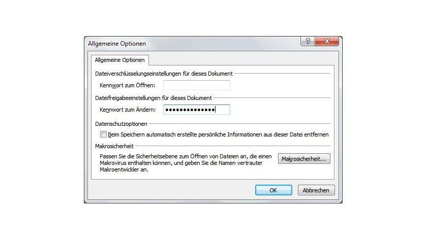 Geschützt: Wer diese Powerpoint-Datei später bearbeiten möchte, benötigt dazu das Passwort.