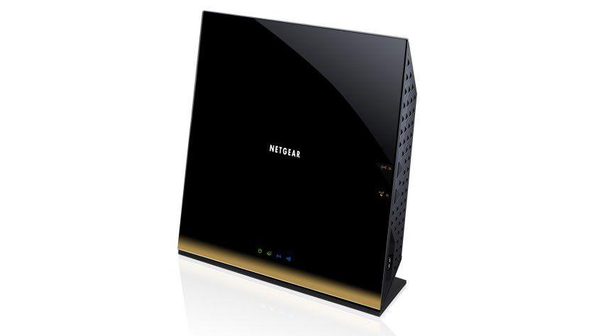 Zeitgemäßer WLAN-Router: Der Netgear D6300 ist ein Gigabit-WLAN-Modem-Router, der sowohl nach dem aktuellen 802.11ac-Standard arbeitet als auch ein integriertes ADSL2+-Modem und einen Gbit-Netzwerkport besitzt.