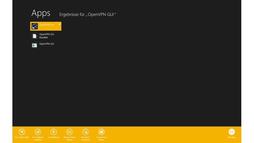 Schnellzugriff: Im Startmenü von Windows 8 kann man direkt den Speicherort des jeweiligen Programmes aufrufen.