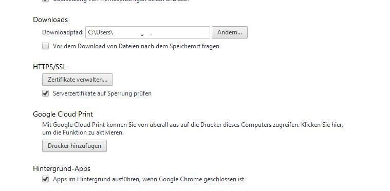 Bild: Zertifikat prüfen: Ist diese Option aktiv, überprüft Chrome ...
