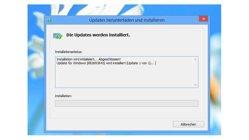 Achtung: Unter Windows 8 wird RSAT als Update installiert.