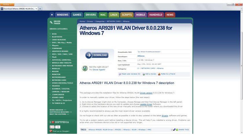 Auf der sicheren Seite: Ab Version 8.0.0.238 des Atheros-WLAN-Treibers lässt sich ein Bluescreen im Zusammenspiel mit McAfee-Software verhindern.