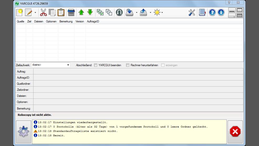 Backup, Synchronisation, Spiegelung: YARCGUI - Gratis-Oberfläche für