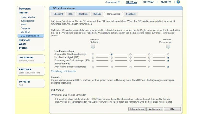 Downgrade: Probleme mit der aktuellen Fritzbox-Firmware lassen sich meist lösen, wenn der Nutzer die vorherige Version wieder zurückspielt. Das geht bequem über die grafische Oberfläche.