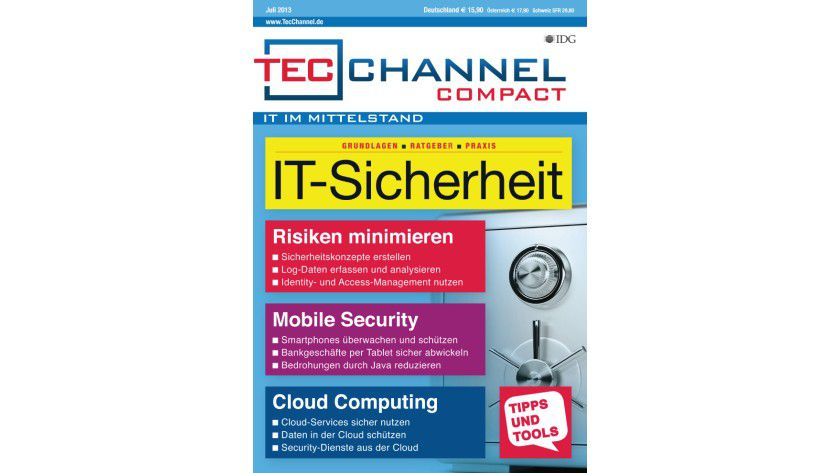 TecChannel Compact 05/2013: Über 160 Seiten geballtes Know-how zum Thema IT-Sicherheit in Unternehmen.