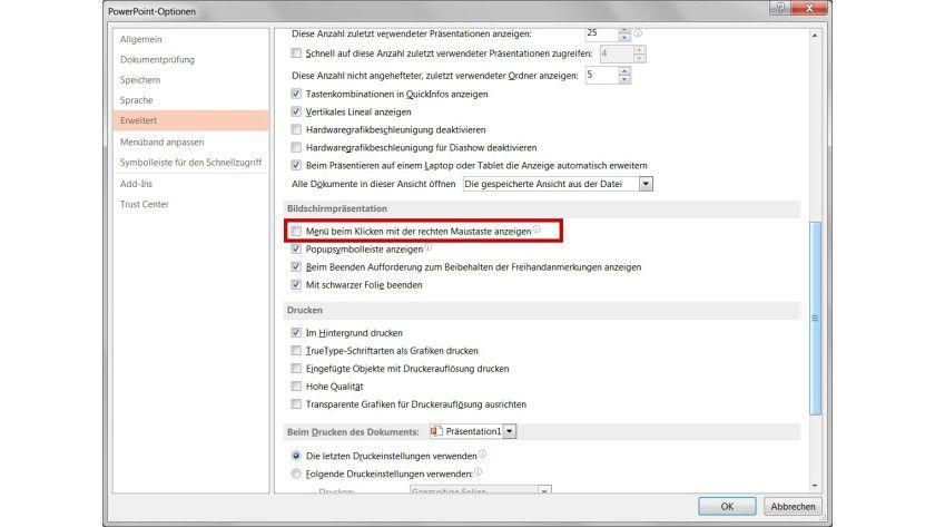 Erleichterte Navigation: Um mit der rechten Maustaste rückwärts durch Powerpoint-Folien blättern zu können, müssen Sie lediglich eine Standardfunktion deaktivieren.