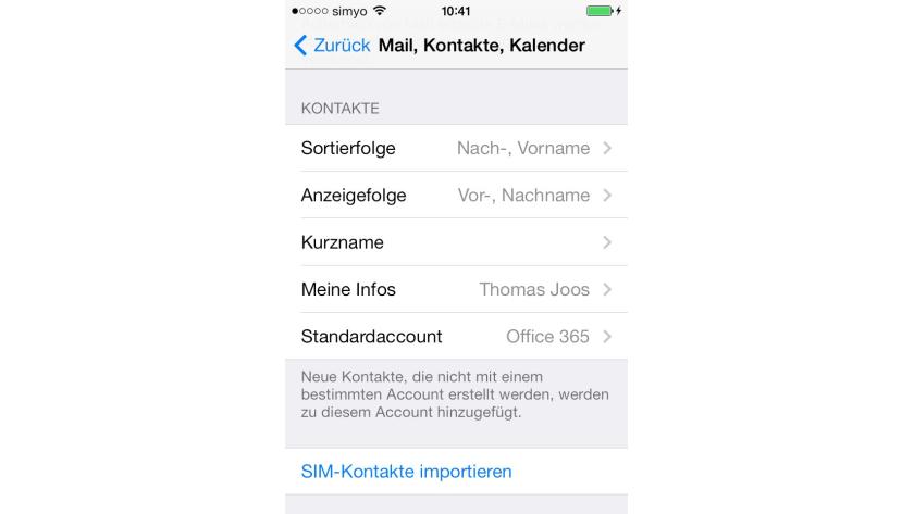 Kontakte Mit Google Mail Und Outlook Com Iphone Und Ipad