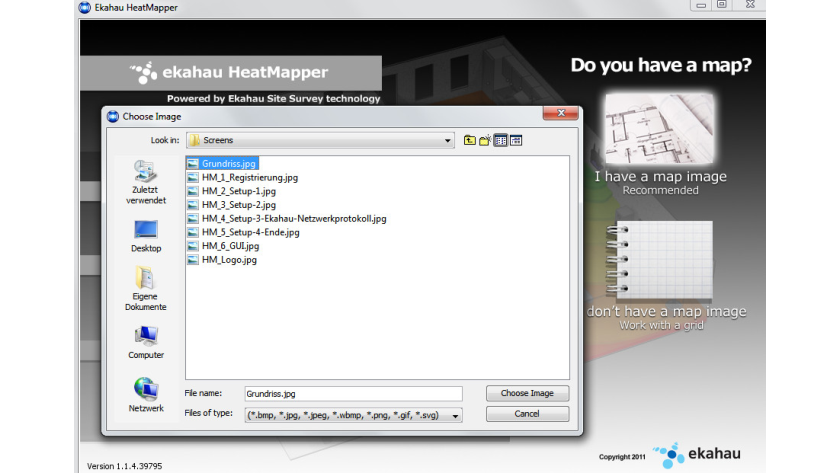 WLAN-Monitor für Windows: Ekahau HeatMapper - Funknetze