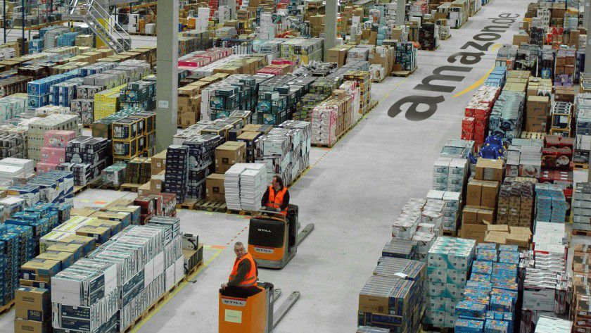 Der Streik bei Amazon soll bis zur Spätschicht am Gründonnerstag dauern. Hier ein Archivfoto aus dem Standort Leipzig.