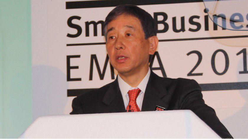 Takao Hiramoto, President der OKI Data Corporation, will Wachstum durch Diversifikation realisieren.