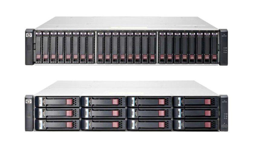 HP MSA 1040 Storage (oben): Einstiegslösung ist umrüstbar auf System-Flaggschiff MSA 2040 (unten).