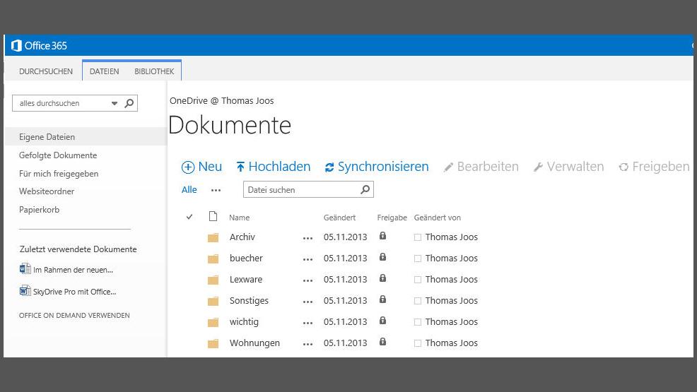 iOS-Apps für Microsoft Cloud-Speicher: OneDrive und OneDrive