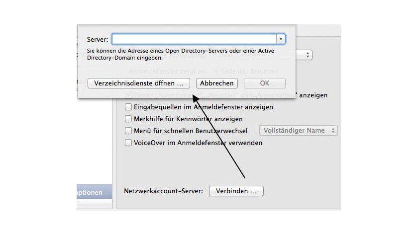 Mac OS X mit Domänencontrollern verbinden - Mac OS X 10 9 mit