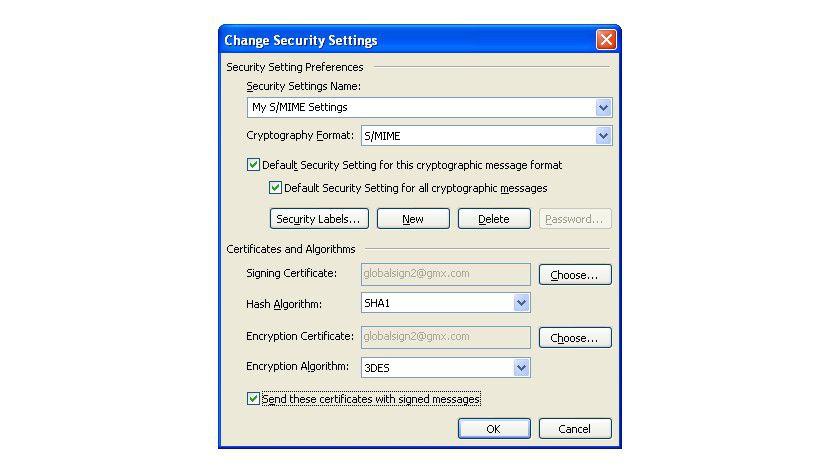 Richtiges Setting: In dieser Registerkarte lassen sich wichtige Sicherheitseinstellungen für den E-Mail-Versand unter Outlook 2011 für Mac OS X vornehmen.