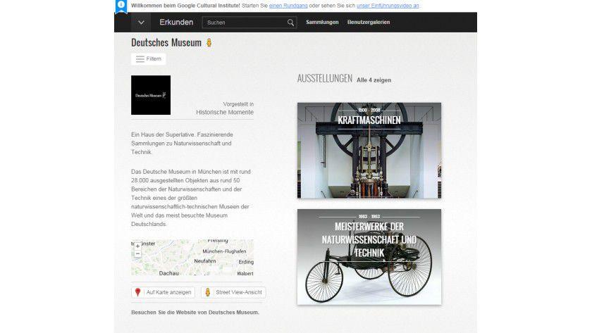 Google Cultural Institute: Teile des Deutschen Museums können Interessierte nun am Rechner erkunden.