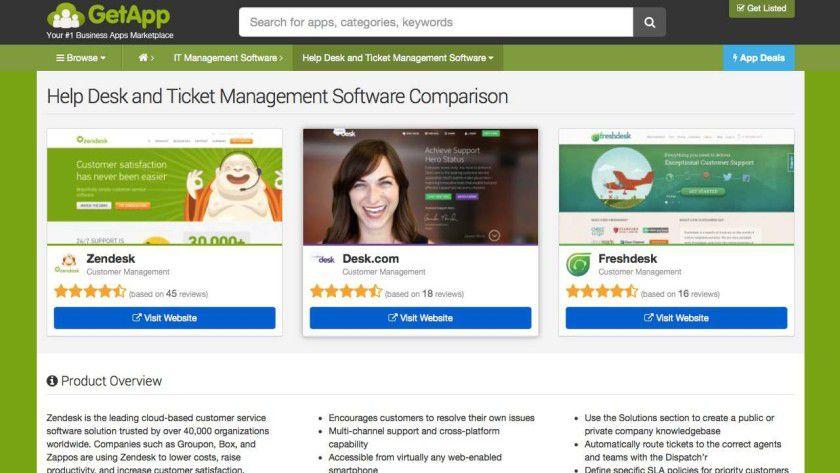 SaaS-Produkte effizient vergleichen: Auf SaaS-Portalen für Business-Anwendungen wie GetApp.com können Anwender Web-Tools effizient miteinander vergleichen