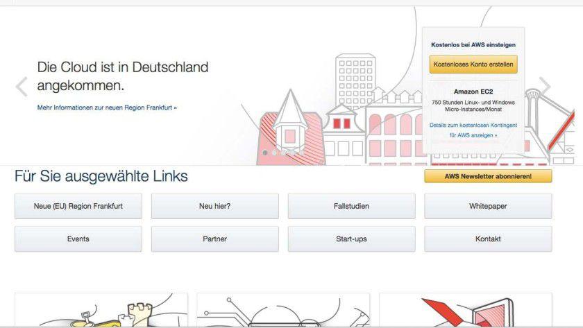 Neues Amazon-Rechenzentrum in Frankfurt: Amazon eröffnete vor Kurzem sein erstes Rechenzentrum in Deutschland. Kunden sollen damit in die Lage versetzt werden, personenbezogene Daten sicher innerhalb des Landes zu speichern.