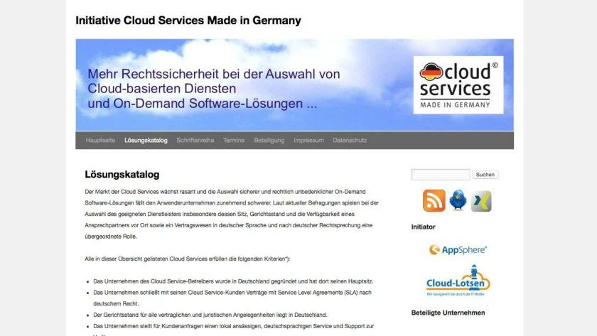 "Initiative für mehr Rechtssicherheit: In der Initiative ""Cloud Services Made in Germany"" haben sich in Deutschland ansässige Cloud-Anbieter zusammengeschlossen."