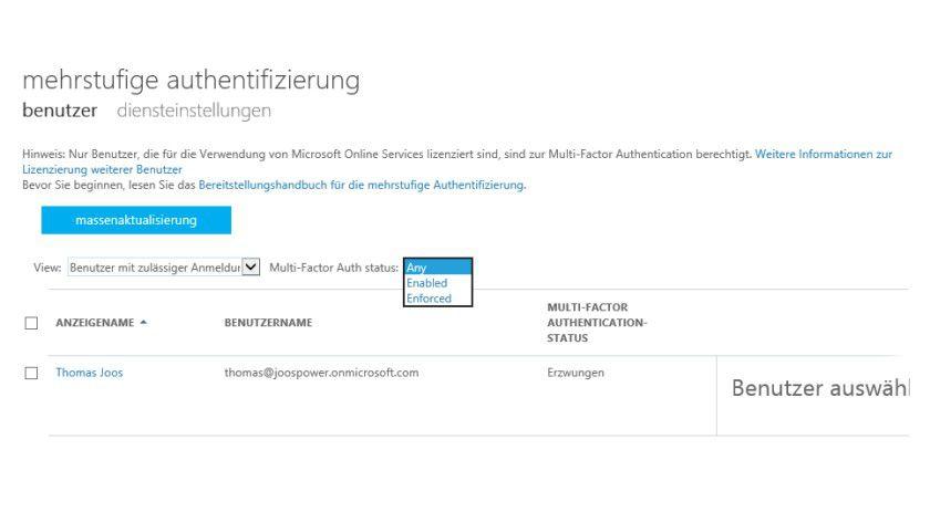 Mit der Mehrwege-Authentifizierung erhöhen Sie die Sicherheit für Benutzer in Office 365.