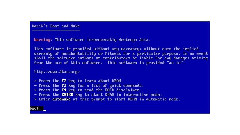 """Mit Darik`s Boot and Nuke"""" (DBAN) können Sie zuverlässig ganze Festplatten löschen."""